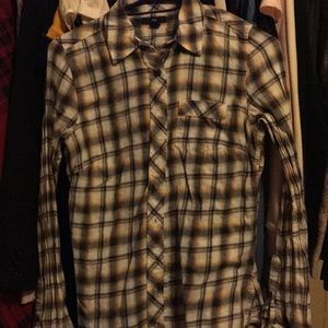 Gap light flannel plaid shirt